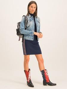 Granatowa sukienka Tommy Jeans w stylu casual mini
