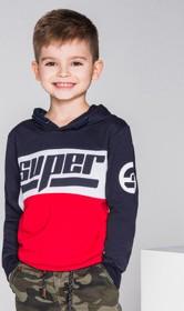 Ombre clothing bluza dziecięca z kapturem kb009 - granatowa