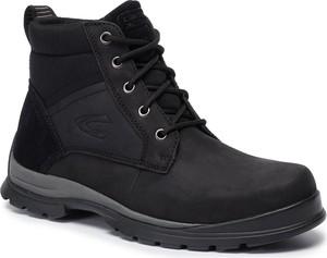 Czarne buty zimowe Camel Active sznurowane