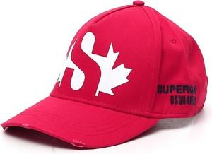 Czerwona czapka Dsquared2