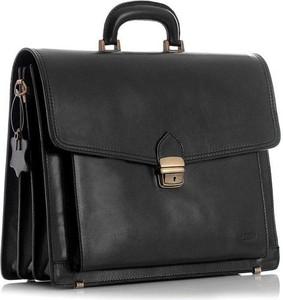 Czarna torebka Merg matowa w stylu glamour duża