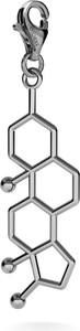 GIORRE SREBRNY CHARMS TESTOSTERON, WZÓR CHEMICZNY 925 : Kolor pokrycia srebra - Pokrycie Czarnym Rodem