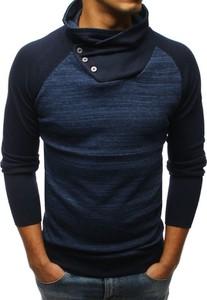 Niebieski sweter Dstreet z wełny w stylu casual