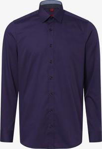 Fioletowa koszula Finshley & Harding z bawełny z długim rękawem z klasycznym kołnierzykiem