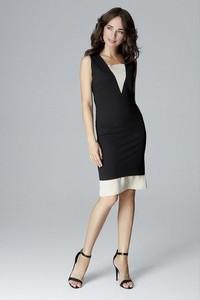 Sukienka LENITIF z szyfonu dopasowana