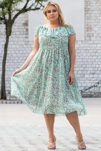 Sukienka KARKO hiszpanka z szyfonu trapezowa