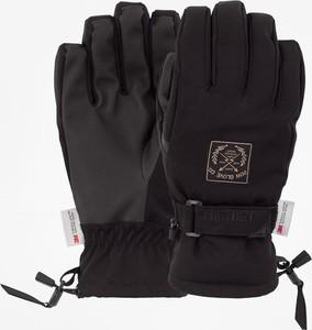 Granatowe rękawiczki Pow ze skóry
