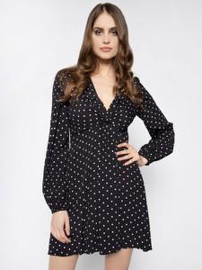 Czarna sukienka Pinko w stylu casual mini rozkloszowana