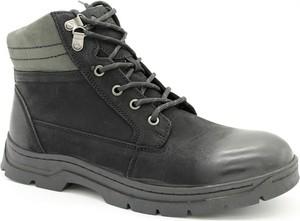 Czarne buty zimowe American Club na zamek