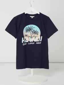 Granatowa koszulka dziecięca Review For Teens z bawełny z krótkim rękawem