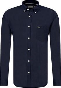 Koszula Lacoste z lnu w stylu casual
