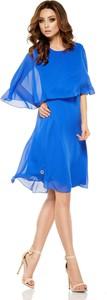 Sukienka Lemoniade mini z okrągłym dekoltem z szyfonu