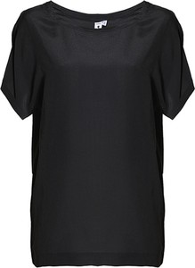 Czarny t-shirt European Culture z jedwabiu