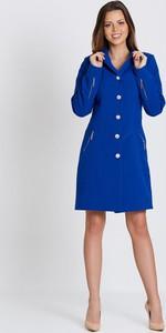 Niebieski płaszcz Marcelini