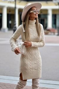 Sukienka Ivet.pl z dzianiny midi