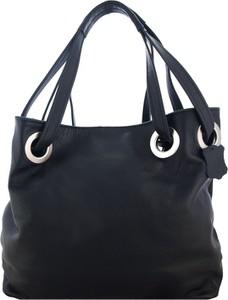 Czarna torebka TrendyTorebki do ręki matowa ze skóry