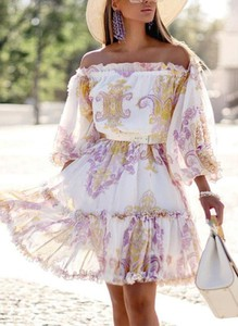 Sukienka Cikelly mini z długim rękawem hiszpanka
