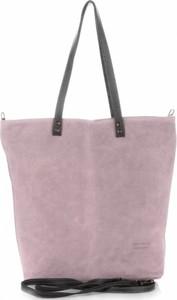 19f24d8fa9c15 Torebki skórzane typu shopperbag firmy vera pelle pudrowy róż