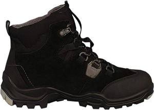 Czarne buty trekkingowe dziecięce Ecco