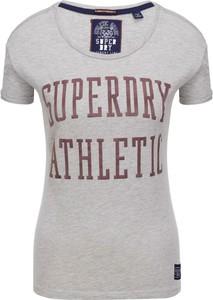 T-shirt Superdry w młodzieżowym stylu z okrągłym dekoltem z krótkim rękawem