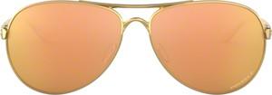 Pomarańczowe okulary damskie Oakley
