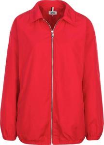 Czerwona kurtka Tommy Jeans z tkaniny w stylu casual