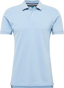 Niebieska koszulka polo Esprit z krótkim rękawem