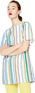 Sukienka Pepe Jeans z krótkim rękawem w stylu casual z okrągłym dekoltem