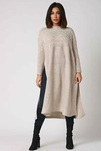 Sukienka Plus Size Fashion z długim rękawem w stylu casual midi