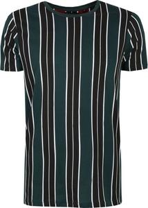 Zielony t-shirt Top Secret w stylu casual z krótkim rękawem