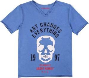 Niebieska bluzka dziecięca Zadig & Voltaire dla chłopców z bawełny z krótkim rękawem