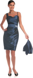 Zielona sukienka Fokus w stylu glamour mini