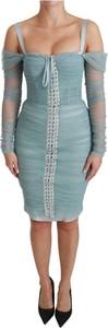 Niebieska sukienka Dolce & Gabbana bodycon