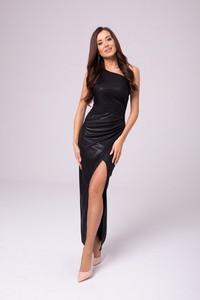 Sukienka N/A z asymetrycznym dekoltem maxi