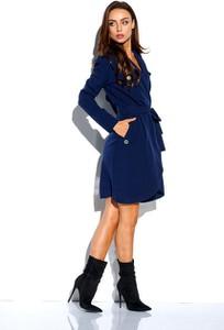 Niebieska sukienka Lemoniade w stylu casual z długim rękawem