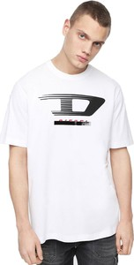 T-shirt Diesel z krótkim rękawem z bawełny