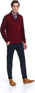 Czerwony sweter Top Secret z dzianiny