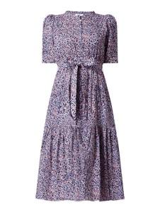 Fioletowa sukienka Suncoo Paris z krótkim rękawem