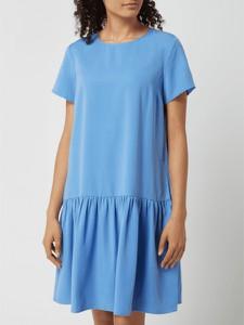 Niebieska sukienka Marc O'Polo DENIM z okrągłym dekoltem z krótkim rękawem w stylu casual