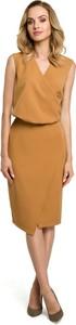 Sukienka MOE ołówkowa bez rękawów z tkaniny