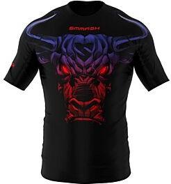 Czarny t-shirt Smmash z nadrukiem z tkaniny