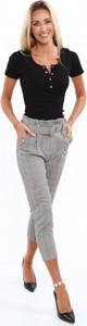 Czarne spodnie Fasardi z tkaniny