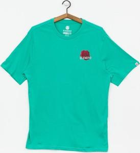 T-shirt Element z nadrukiem z bawełny z krótkim rękawem