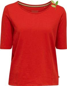 Bluzka Esprit z okrągłym dekoltem w stylu casual z bawełny