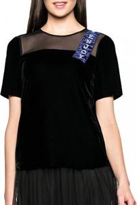 Czarna bluzka L'AF z tiulu
