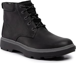 Czarne buty zimowe Clarks sznurowane