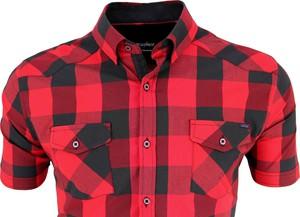 Czerwona koszula Megafinest z krótkim rękawem z bawełny