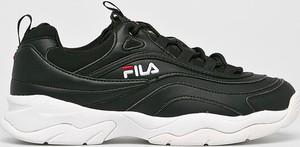 Czarne buty sportowe Fila ze skóry