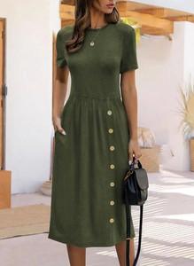 Sukienka Sandbella z krótkim rękawem z dresówki