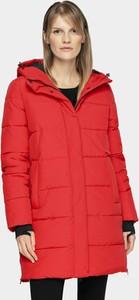 Różowa kurtka 4F długa